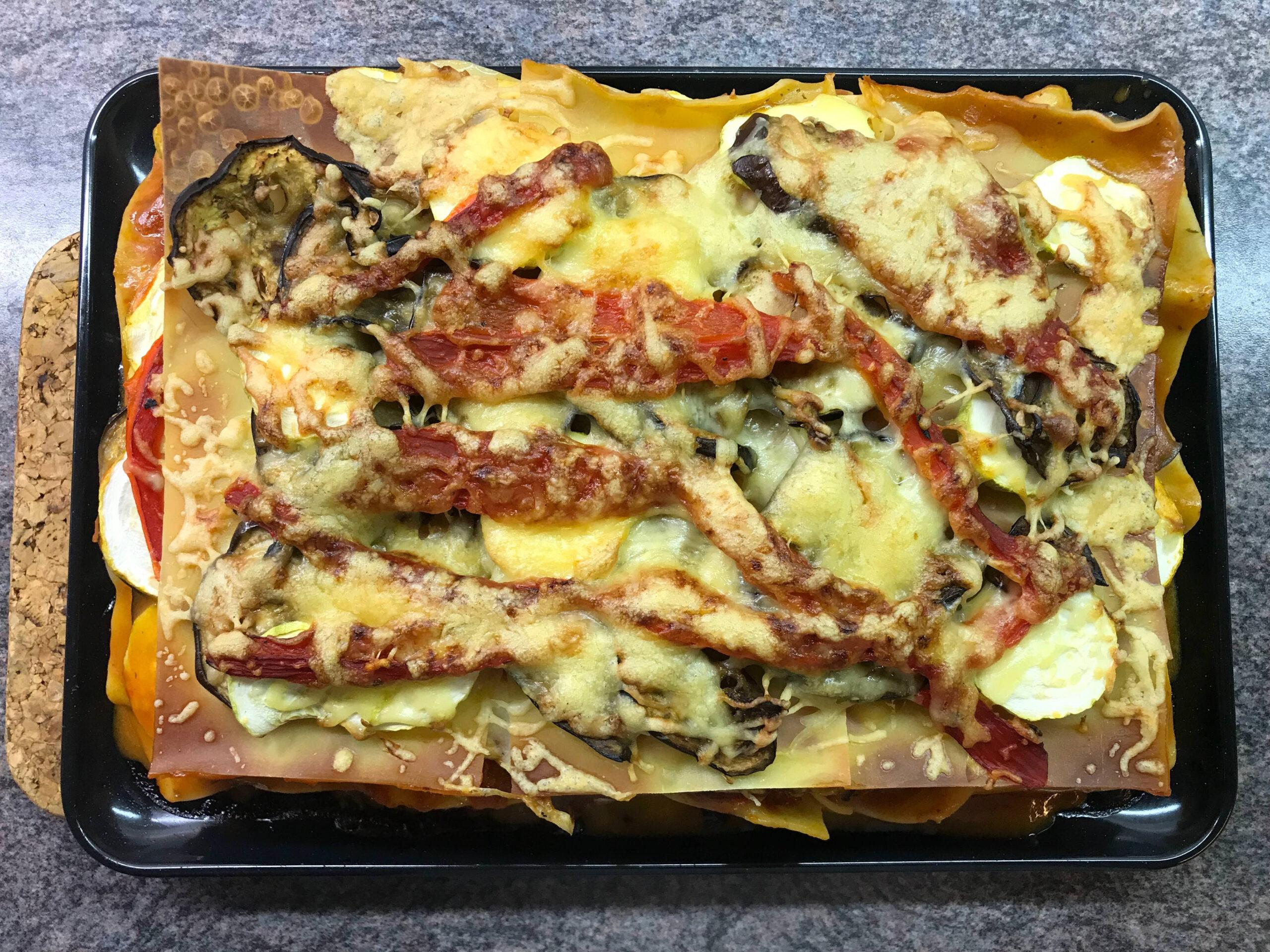 Lasagne met aubergine en courgette