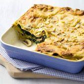 Lasagne met spinazie en champignons