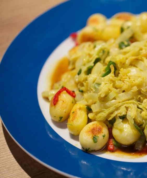 CHINESE KOOL met aardappelen