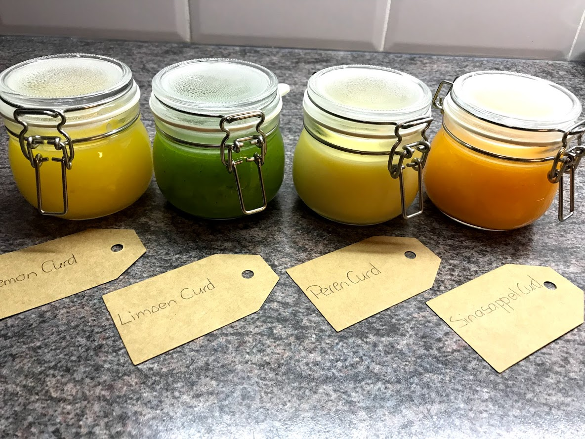Lemoncurd / en varianten Limoencurd, Perencurd, Sinasappelcurd