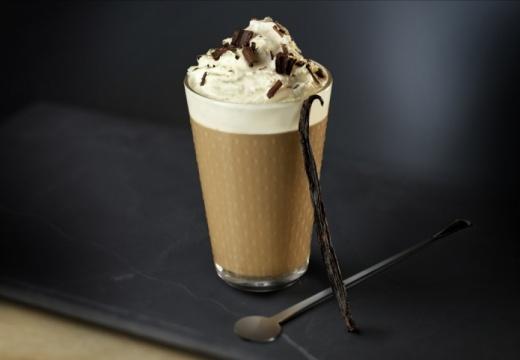 Weense caffé latte met vanille