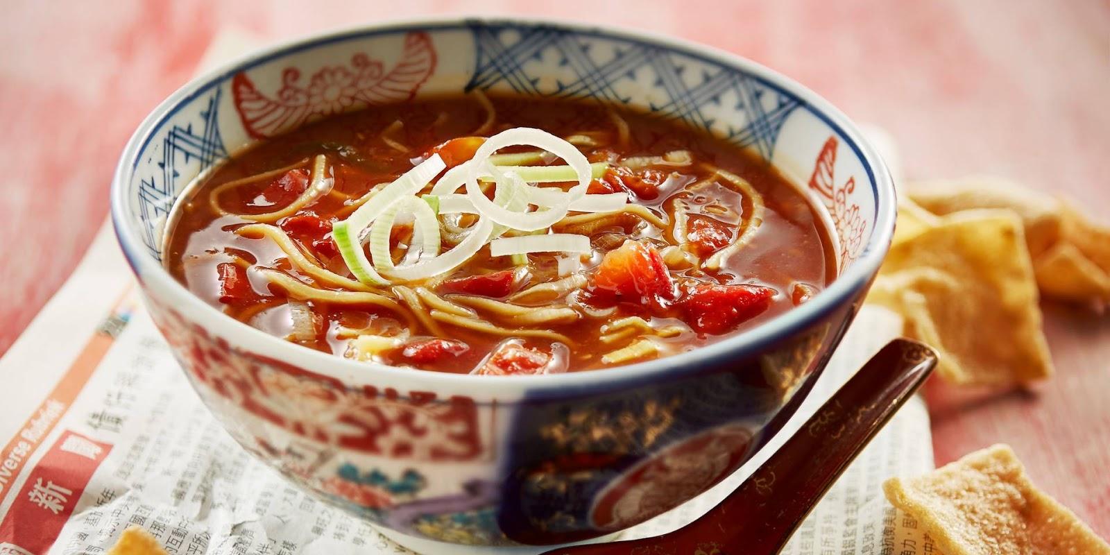 Chinese tomatensoep met gember