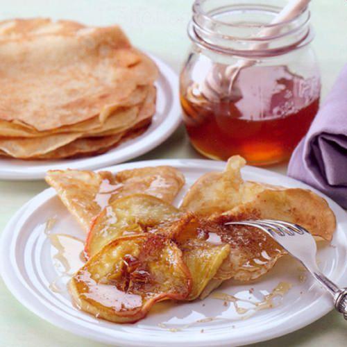 Flensjes met honing en appel