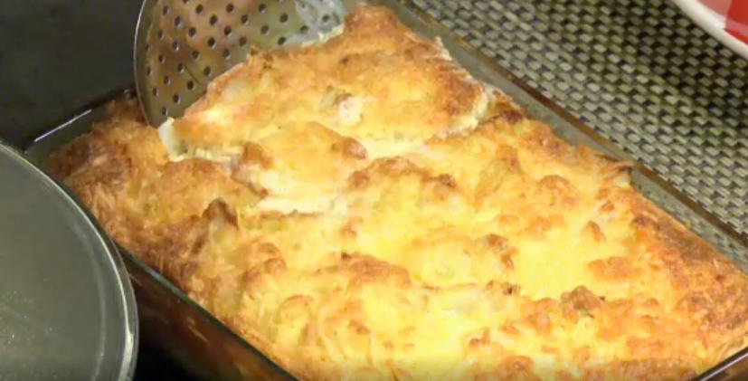 Romige ovenschotel met witte asperges