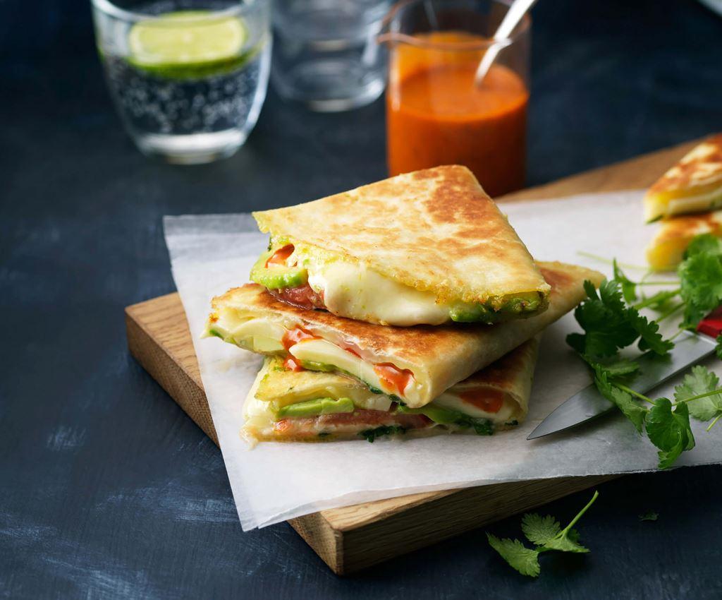 Avocado & Mozzarella Quesadilla's
