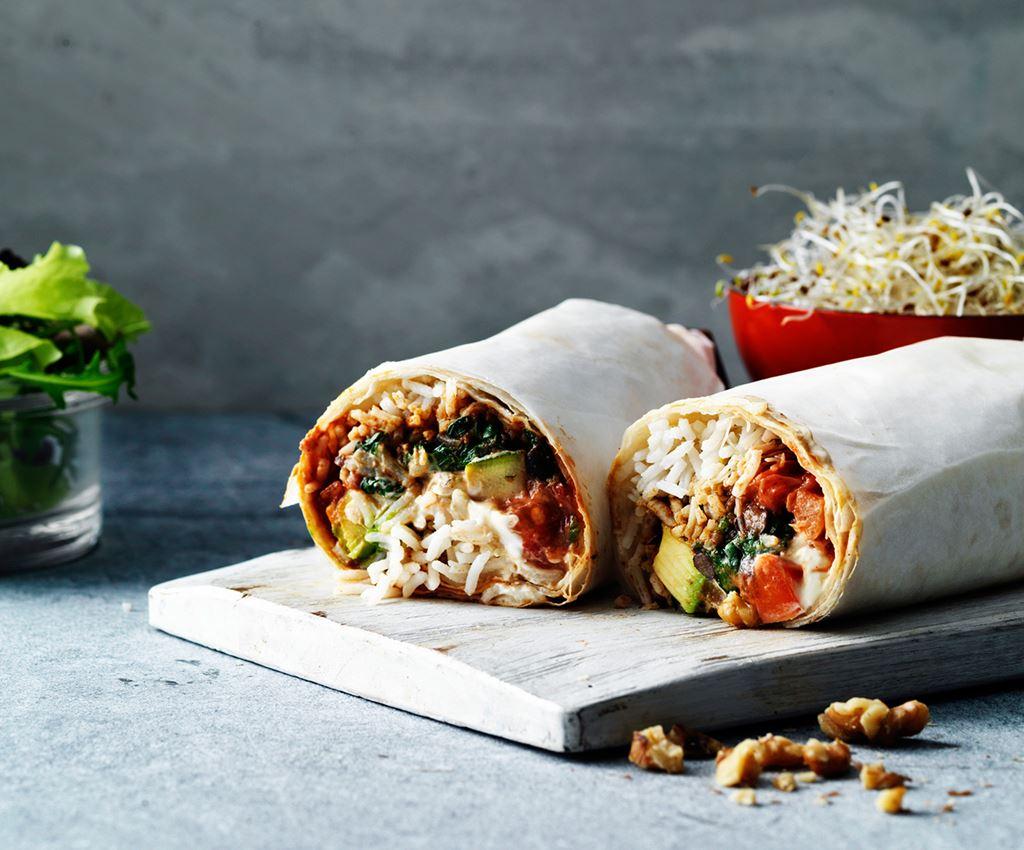 Burrito's met zwarte bonen en geitenkaas