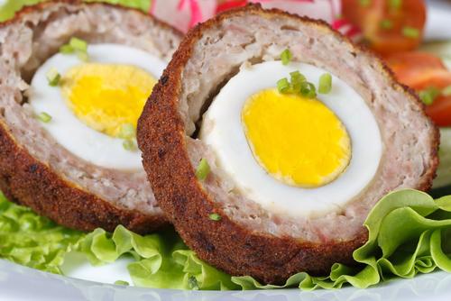 Scotch fried eggs