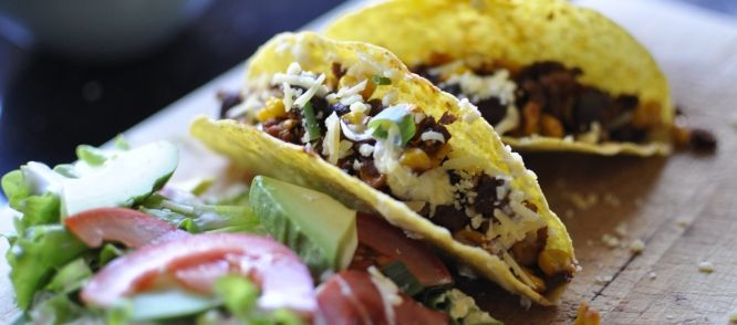 Taco's met groenten en bonen
