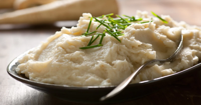 Aardappel-pastinaakpuree